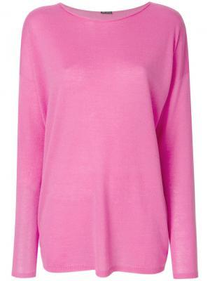 Топ с круглым вырезом Iris Von Arnim. Цвет: розовый и фиолетовый