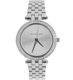 Часы круглой формы с металлическим браслетом Michael Kors