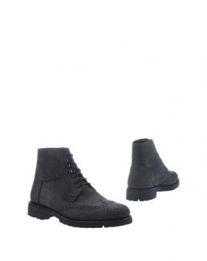 Полусапоги и высокие ботинки BORGIOLI. Цвет: черный