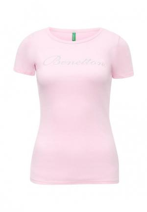Футболка United Colors of Benetton. Цвет: розовый