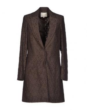 Легкое пальто TROU AUX BICHES. Цвет: темно-коричневый