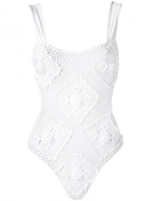 Crochet swimsuit Amir Slama. Цвет: белый