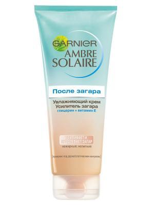 Ambre Solaire Крем-усилитель загара для тела, увлажняющий, с автозагаром, 200 мл Garnier. Цвет: белый