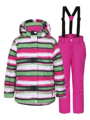 Комплект (куртка+брюки) Icepeak. Цвет: зеленый, розовый