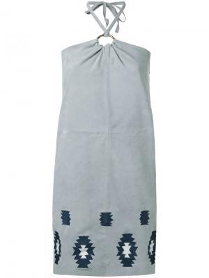 Платье Faidilla Meteo By Yves Salomon. Цвет: серый