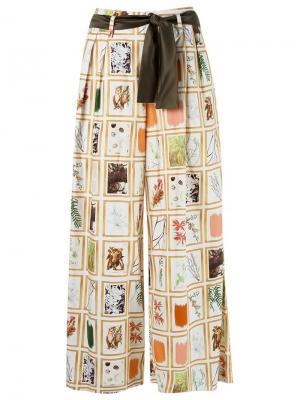 Print wide leg trousers Isabela Capeto. Цвет: телесный
