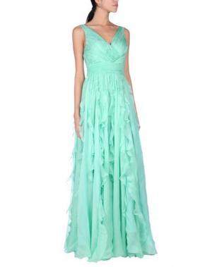 Длинное платье GAI MATTIOLO. Цвет: светло-зеленый