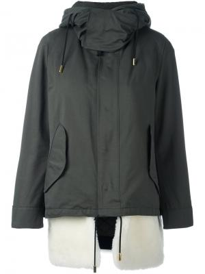 Куртка с капюшоном The Reracs. Цвет: зелёный
