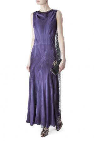 Шелковое платье Erickson Beamon. Цвет: none