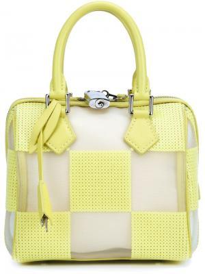 Сумка-тоут Speedy с прозрачными деталями Louis Vuitton Vintage. Цвет: жёлтый и оранжевый