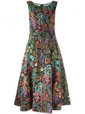 Расклешенное платье с узором Philosophy Di Lorenzo Serafini. Цвет: чёрный