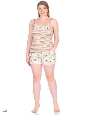 Пижама Linse. Цвет: коричневый