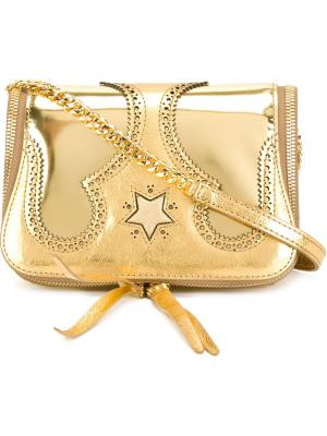 Western shoulder bag The Volon. Цвет: металлический