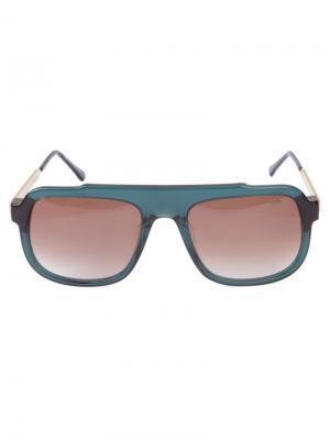 Солнцезащитные очки в квадратной оправе Thierry Lasry. Цвет: зелёный