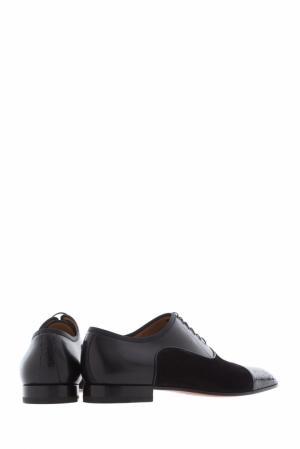Туфли Greggo orlato flat pyth cire/vv/calf brosse/gg Christian Louboutin. Цвет: черный