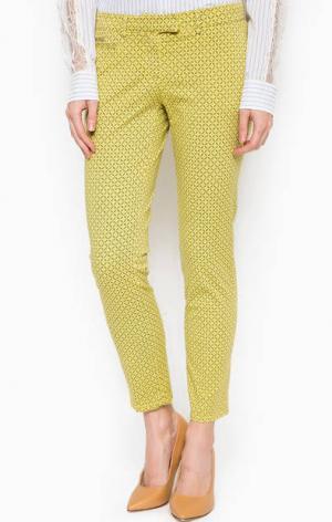 Укороченные брюки из хлопка Patrizia Pepe. Цвет: желтый