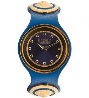 Часы с синим кожаным браслетом VERSUS