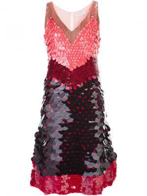 Платье с пайетками Altuzarra. Цвет: чёрный