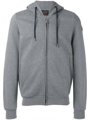 Zipped hoodie Paul & Shark. Цвет: серый