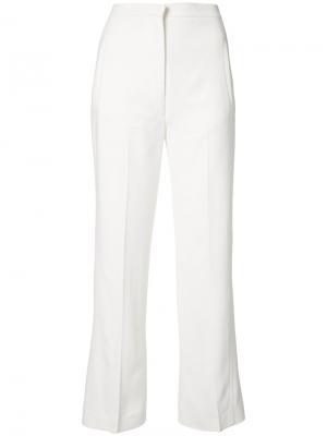 Укороченные брюки Khaite. Цвет: белый