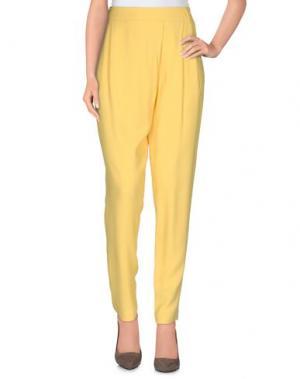 Повседневные брюки BRIAN DALES. Цвет: желтый