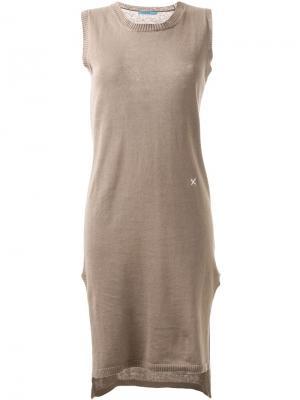 Вязаное облегающее платье Guild Prime. Цвет: коричневый