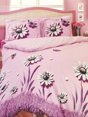 Комплект постельного белья Altinbasak. Цвет: розовый