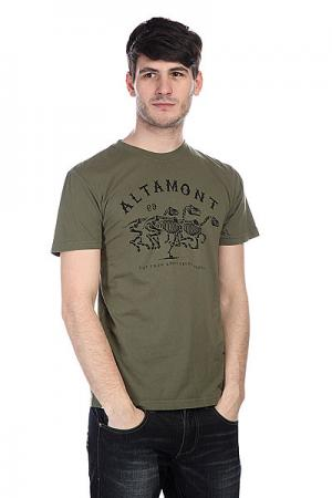 Футболка  Wild Horses Olive Altamont. Цвет: зеленый