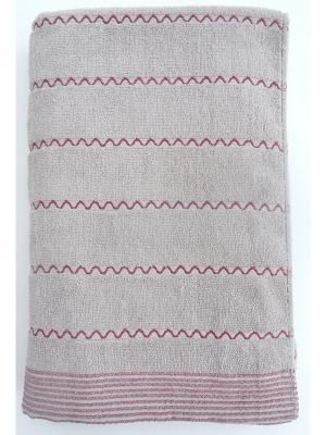 Полотенца банные A and C Collection. Цвет: светло-серый