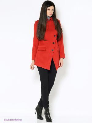 Пальто Garderob. Цвет: красный
