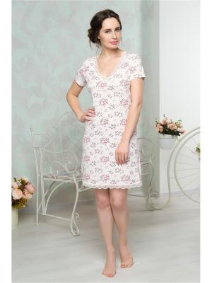 Ночная сорочка Mia Cara. Цвет: молочный