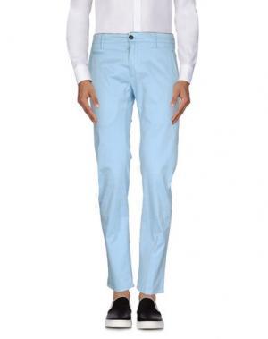 Повседневные брюки DEPARTMENT 5. Цвет: небесно-голубой