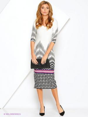 Платье Xarizmas. Цвет: серый, розовый, белый, черный