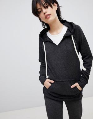 Ocean Drive Серый свитер с карманом-кенгуру. Цвет: черный