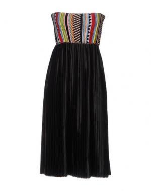Платье до колена AKEP. Цвет: черный