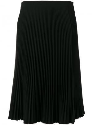 Плиссированная юбка с разрезом Versace. Цвет: чёрный