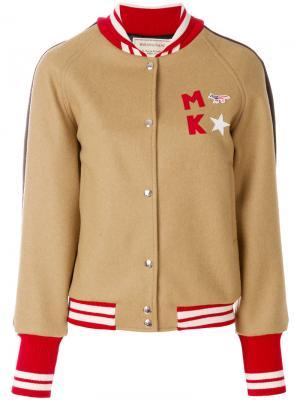 Двухцветная куртка Maison Kitsuné. Цвет: коричневый