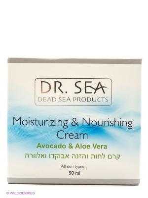 Увлажняющий и питательный крем с маслом авокадо экстрактом алоэ вера, 50 мл. Dr. Sea. Цвет: зеленый