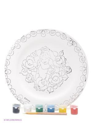 Набор для росписи керамической тарелки  Золушка Фабрика Фантазий. Цвет: белый