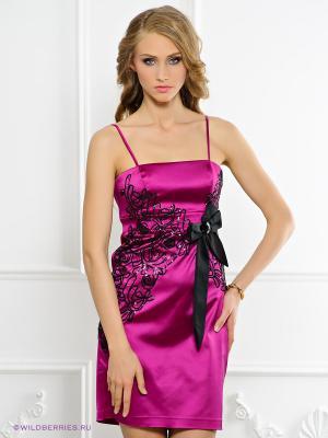 Платье BIRRIN. Цвет: фуксия