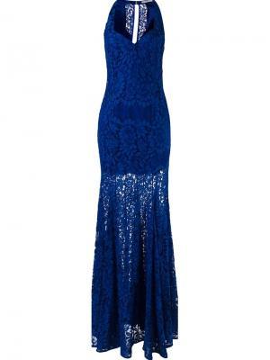 Lace maxi dress Martha Medeiros. Цвет: синий