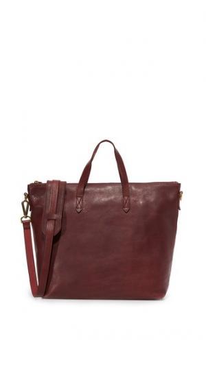 Объемная сумка с короткими ручками Transport на молнии Madewell