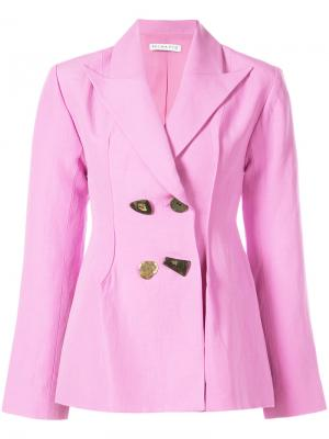 Блейзер Nicole Rejina Pyo. Цвет: розовый и фиолетовый