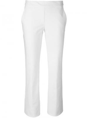 Классические брюки Theory. Цвет: белый