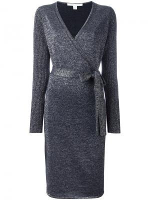 Платье с запахом Nango Diane Von Furstenberg. Цвет: синий