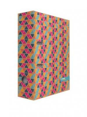 Регистратор ECO крафт с дизайном Геометрия 75мм Expert Complete. Цвет: желтый, коричневый, оранжевый, розовый, синий