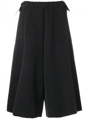 Широкие укороченные брюки Boboutic. Цвет: чёрный