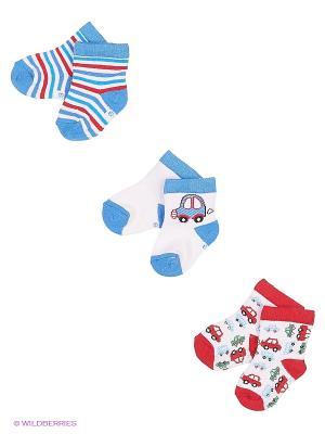 Носки PERA MAYA. Цвет: голубой, красный, белый