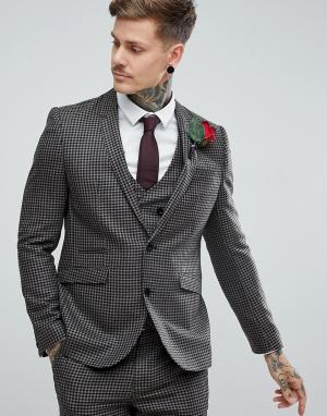ASOS Приталенный пиджак из 100% шерсти. Цвет: бежевый