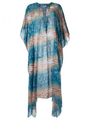 Printed beach dress Brigitte. Цвет: синий